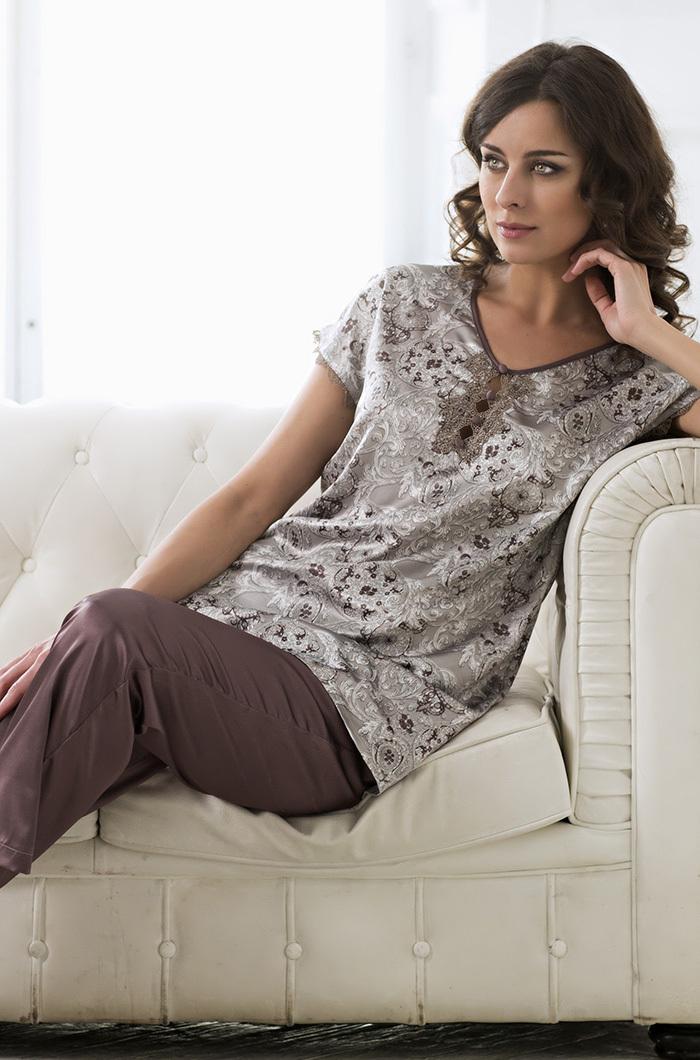 Домашние брючные комплекты Пижама женская с брюками Mia-Amore STELLA  Стелла 9296 9296.jpg