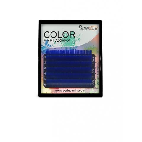 Ресницы EM айлэш мэйкер цветные 6 линий MIX синий