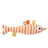 Кот Басик Baby в слюнявчике с рыбкой-погремушкой