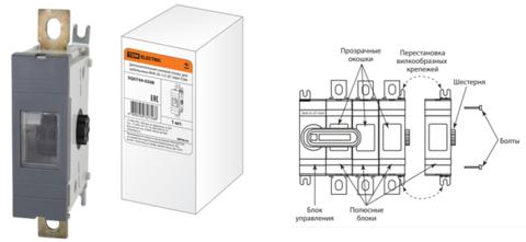 Дополнительный силовой полюс для рубильника ВНК-37-1/2 3П 315А TDM