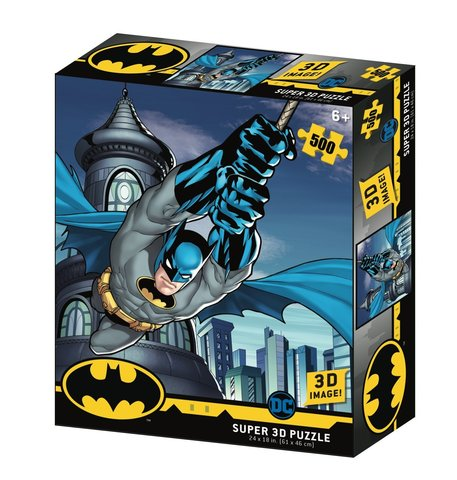 Пазл Super 3D «Полет Бэтмена», 500 деталей