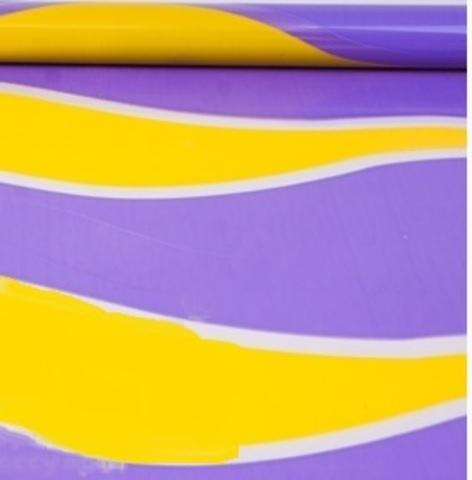 Пленка полипропиленовая цветная Пламя 70см х 7м Цвет:желто-сиреневый