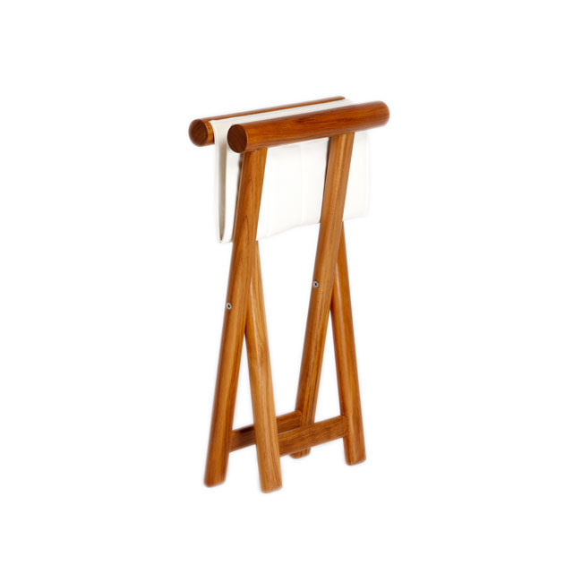 FOLDING STOOL TEAK – OLEFIN BLUE NAVY