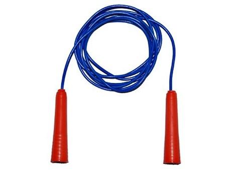 Скакалка (шнур пластик, ручки пластик,цветная) 1,8м Продажа только упаковкой 10 шт