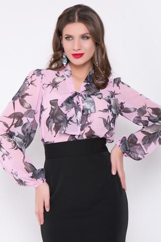 <p>Романтичная блузка из шифона, свободного кроя. Рукав длинный, втачной, с резинкой по низу. Особую оригинальность этой блузке придает бант на горловине. Эту нарядную блузку можно комбинировать и с юбкой, и с брюками.</p>