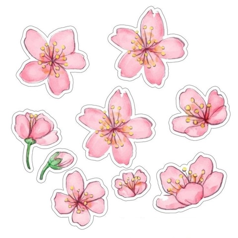 Печать на сахарной бумаге, Набор цветы 10