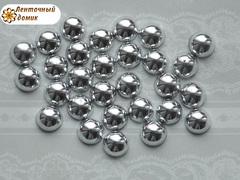 Полубусины  серебряные 8 мм (50 шт)