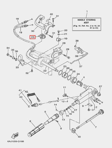 Уплотнение для лодочного мотора F20 Sea-PRO (16-23)