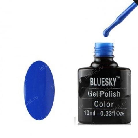 Гель-лак Блюскай  ярко - синий, плотный 10 мл.