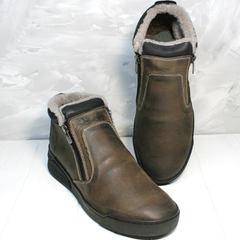 Мужские ботинки из натуральной кожи Rifellini Rovigo 046 Brown Black