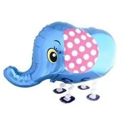 Ходячий шар Слоник синий