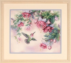 DIMENSIONS Колибри и фуксии (Hummingbird and Fuchsias)