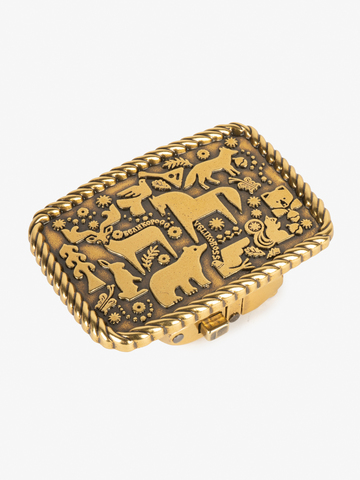 Бляха-автомат цвета старого золота – Лесная сказка