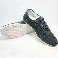 Мокасины сникерсы мужские Vitto Men Shoes 3560 Navy Blue.