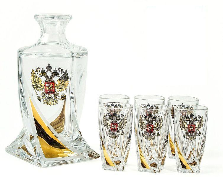 Подарочный набор для водки из хрусталя «Атташе»: 1 штоф 500 мл и 6 стопок 60 мл стопка для водки из хрусталя classic 55 мл