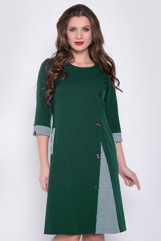 <p>Главный образ сезона - элегантное платье с идеальным фасоном и множеством пуговиц! А-образный силуэт, рукав 3/4 с манжетом. Отличный вариант для деловых встреч.(Длины: 46-48=99см; 50=100см; 52=102см; 54=104см)</p>
