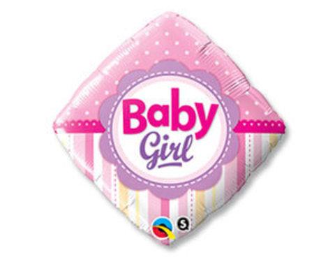 Фольгированный ромб Новорожденная девочка