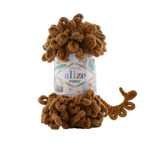 Купить Пряжа Alize Puffy Код цвета 718 Белка | Интернет-магазин пряжи «Пряха»