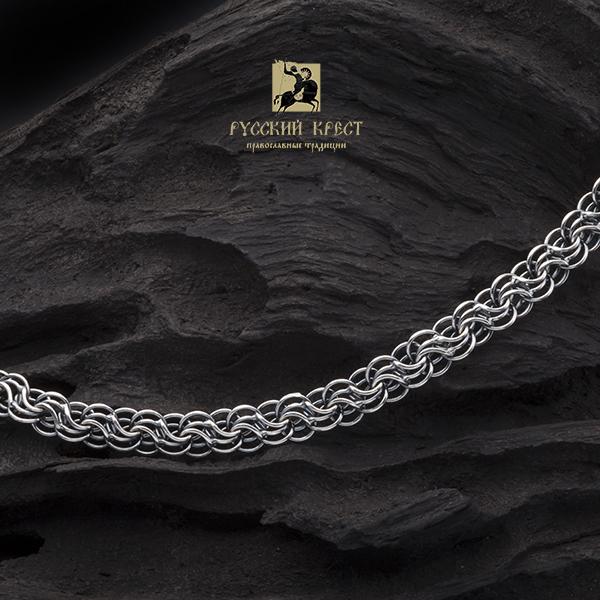 купить мужскую серебряную цепь на шею