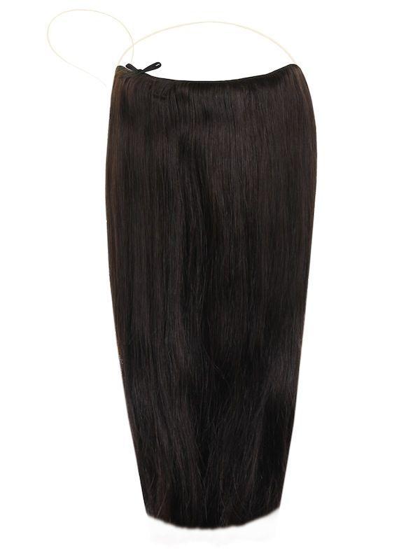Волосы на леске Flip in- цвет #1B- темный коричневый с черным отливом