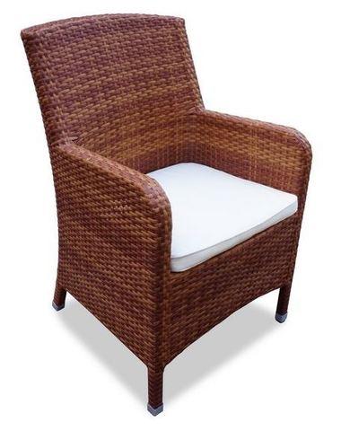 Кресло плетеное Миконос, цвет - тик