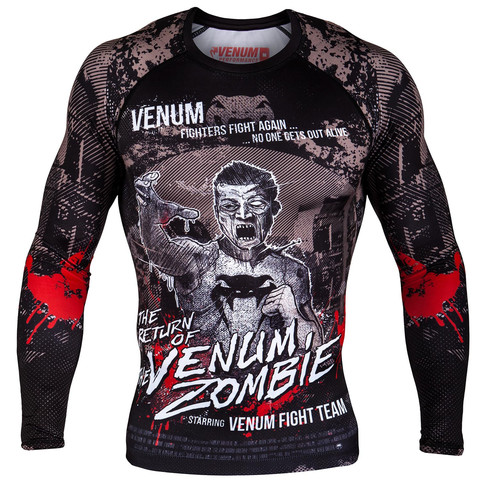 Рашгард Venum Zombie Return Rashguard Long Sleeves Black