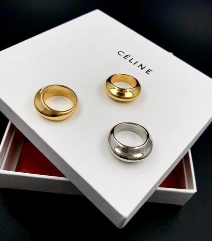 Стильное кольцо из латуни без вставок lux
