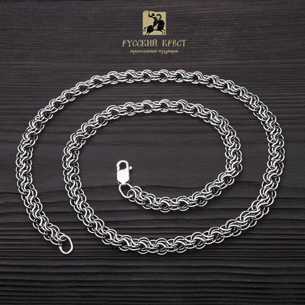 купить мужскую серебряную цепь на шею Сармат