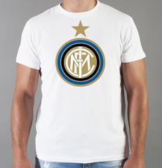 Футболка с принтом FC Internazionale (ФК Интернационале) белая 004