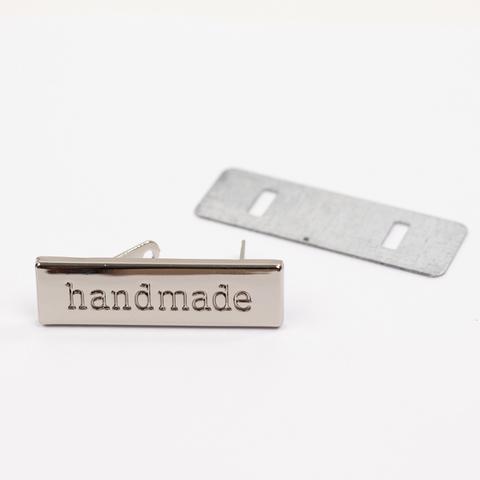 """Бирка металлическая """"Hand Made"""" N1"""
