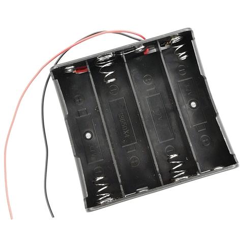 Батарейный отсек на 4 аккумулятора 18650 с проводами