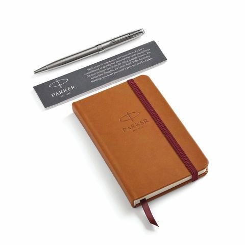 Набор с блокнотом и Шариковая ручка Parker Sonnet, Stainless Steel CT123