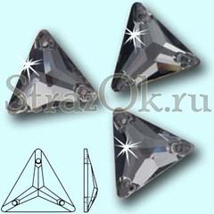 Стразы пришивные Triangle Black Diamond, Треугольник Блэк Даймонд, серые на StrazOK.ru