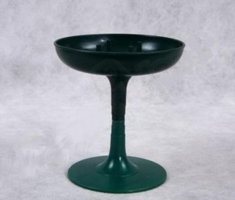 Поддон Чаша на ножке (d13хh14 см) Цвет: зеленый