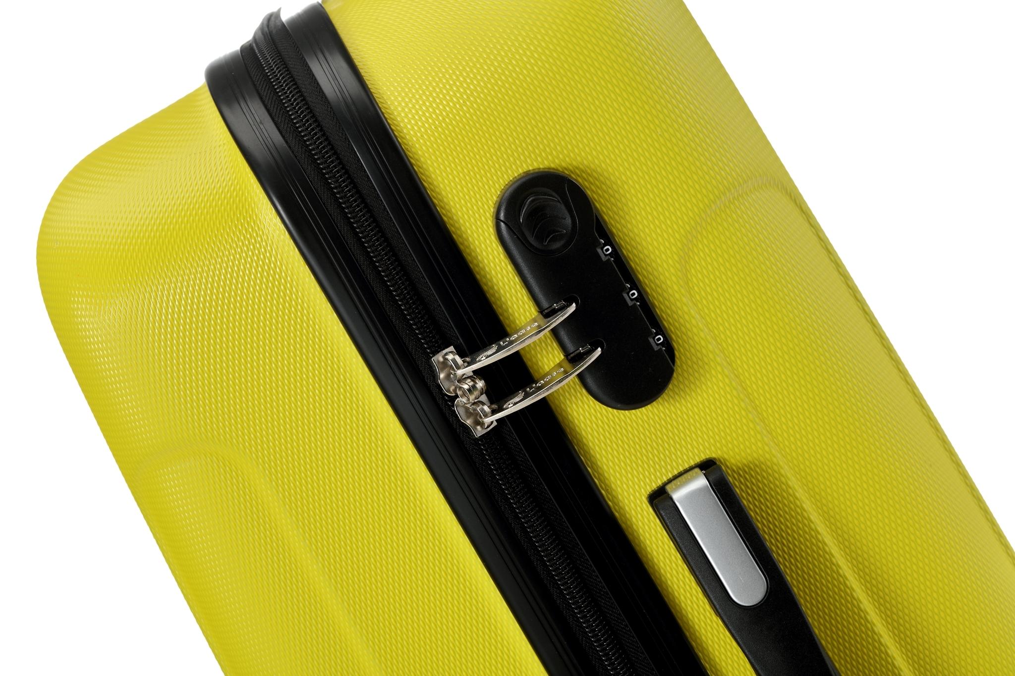 Чемодан со съемными колесами L'case Bangkok-22 Желтый (M)