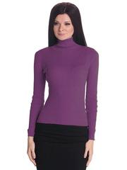 1451-17 водолазка женская, фиолетовая