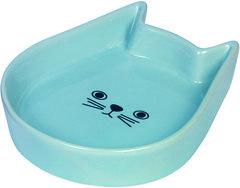 Nobby Миска 13x16x3см керамика Kitty face голубая