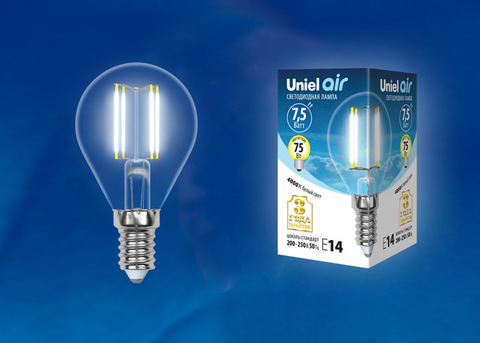 LED-G45-7,5W/NW/E14/CL GLA01TR Лампа светодиодная. Форма