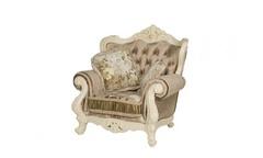 Кресло Милано ткань кофейная (MK-1828-IV) Слоновая кость