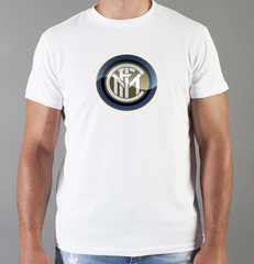 Футболка с принтом FC Internazionale (ФК Интернационале) белая 005