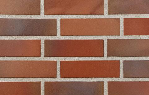 Stroeher - 316 patrizienrot ofenbunt, Keravette, unglasiert, неглазурованная, гладкая, 240x52x8 - Клинкерная плитка для фасада и внутренней отделки