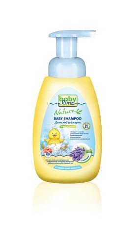 Детский шампунь Babyline Nature  250 мл c экстрактом лаванды