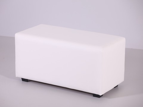 Пф-02 Пуфик прямоугольный (белый) для дома и магазина