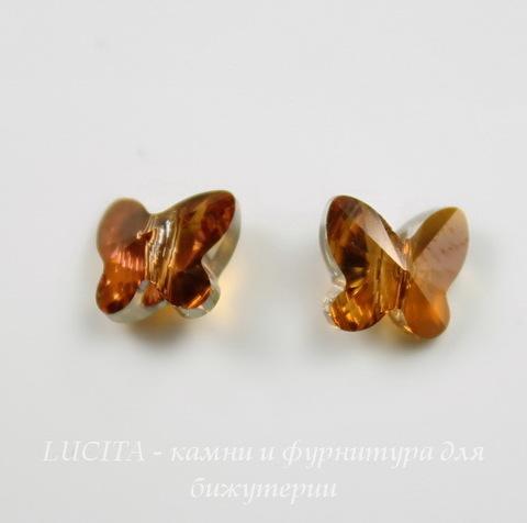 5754 Бусина в виде бабочки Сваровски Crystal Copper 8 мм