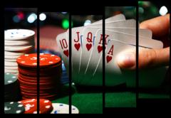 """Модульная картина """"Игра в покер"""""""