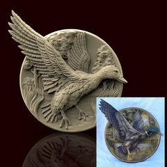 Силиконовый молд Утка (медальон) № 0466