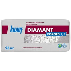 Штукатурка цементная декоративная Knauf Диамант Короед 1.5, 25 кг