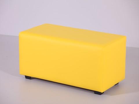 Пф-02 Пуфик прямоугольный (желтый) для дома и магазина