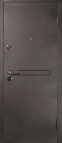 Дверь входная L-3-1 эконом стальная, венге, 2 замка, фабрика Арсенал