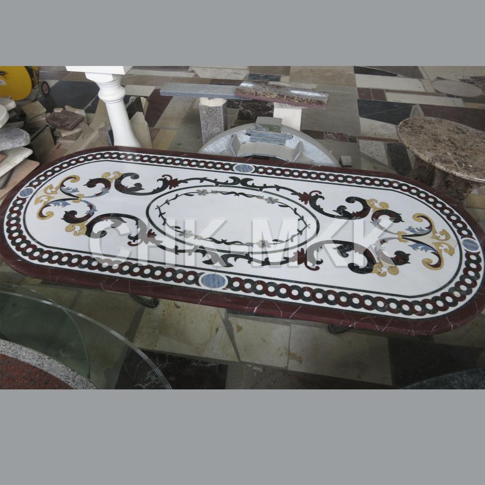 Мраморный стол с мозаикой №2